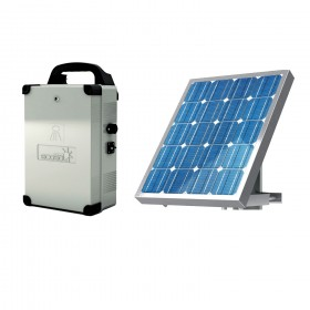 """BFT ECOSOL Basic """"add-on"""" Solar Kit w/ 7.2 Amp/h Batteries, Solar Panel, 15' Cable  - KED113731H"""