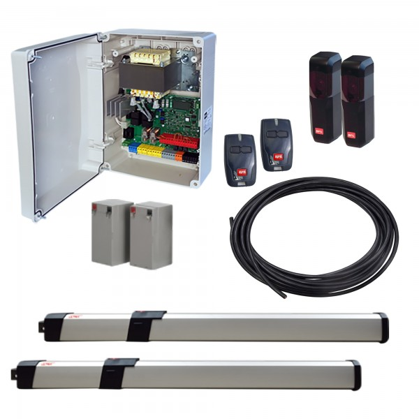 BFT GIUNO BT A50 UL DUAL KIT LE Double Swing Gate Operator Kit With Battery Backup - KGIUNOULA50D-LE