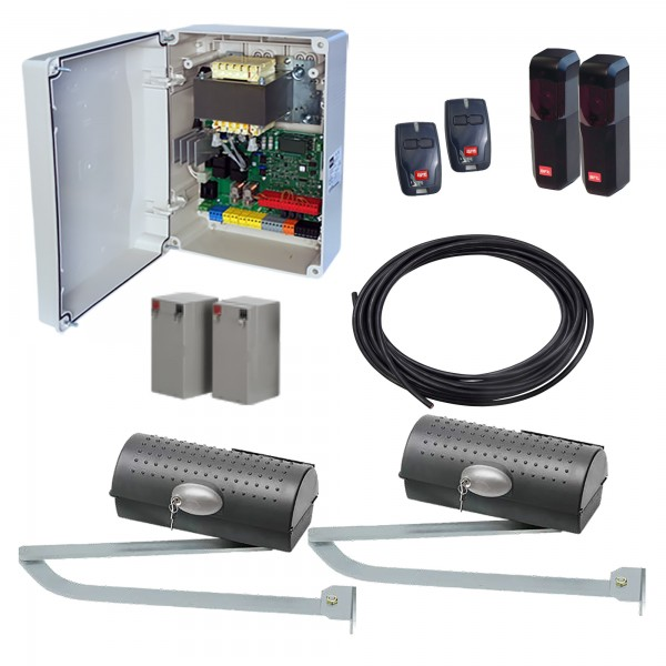 BFT IGEA BT UL DUAL KIT LE Electromechanical Double Swing Gate Operator Kit With Battery Backup - KIGEA-UL-D-LE