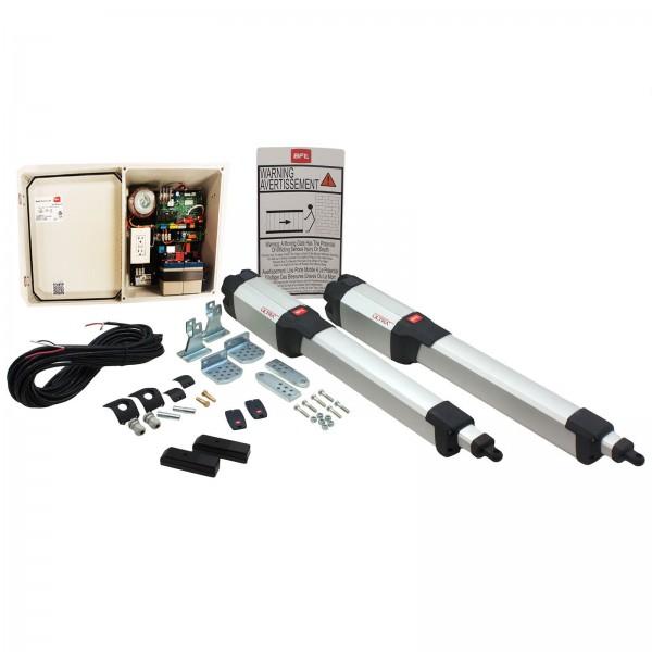 BFT Kustos Dual Swing Gate Operator Kit, Battery Back-Up (Large Enclosure) - KLEBR93531705